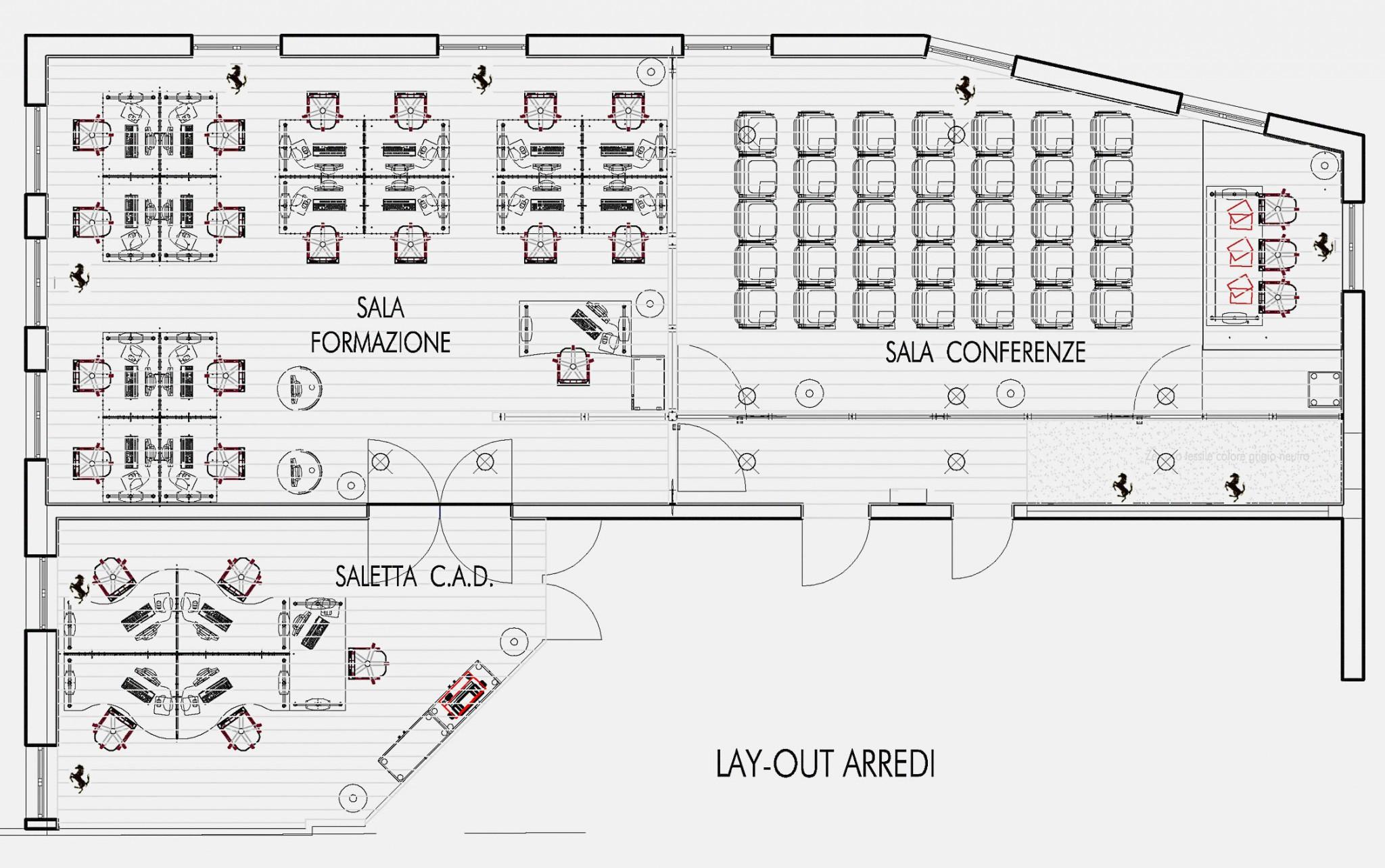 Ferrari learning point maranello studio abacus for Arredi autocad