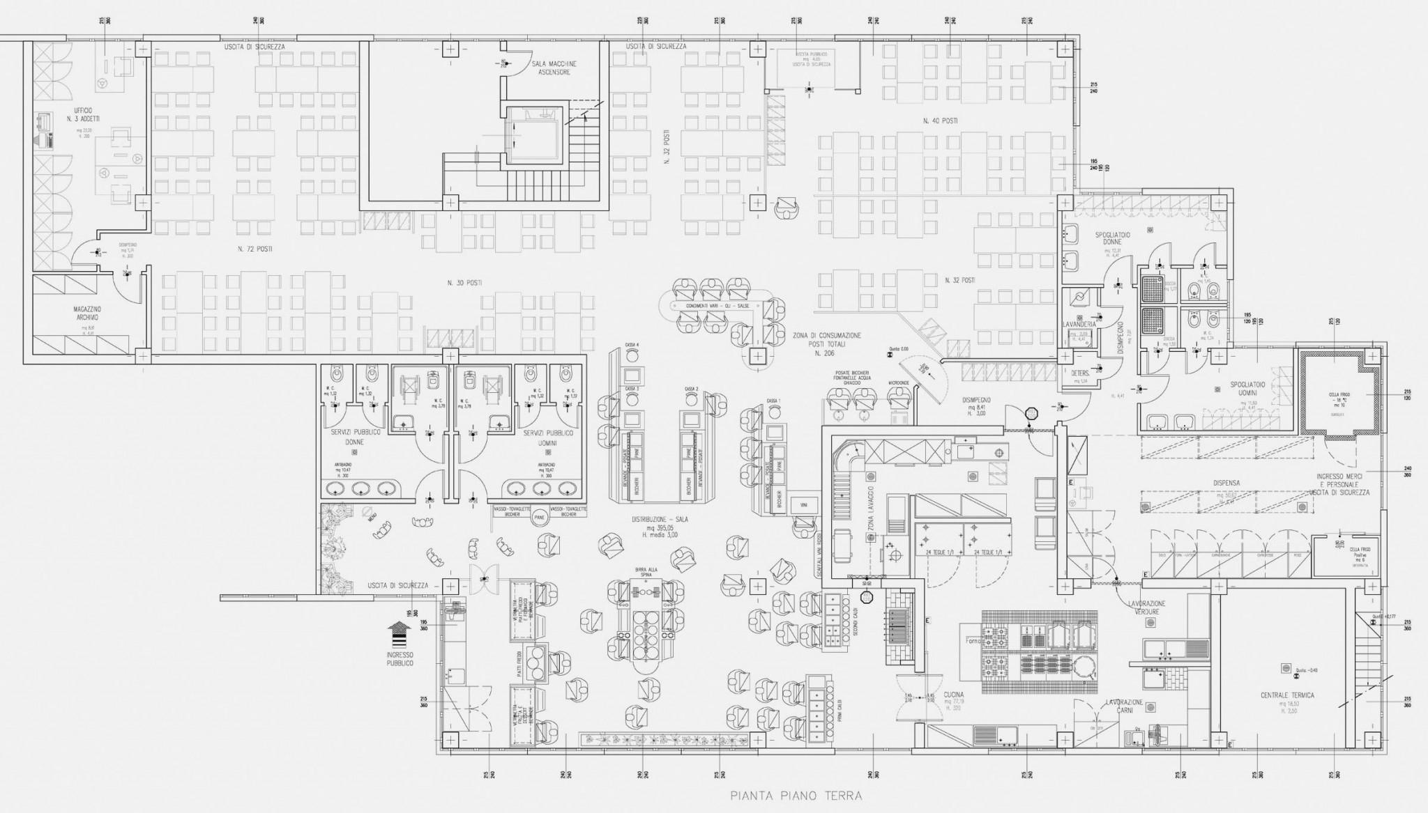 RISTORANTE SELF-SERVICE Funo (BO) | Studio Abacus | Architetto ...